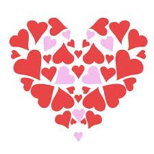 Heart shape with mini hearts