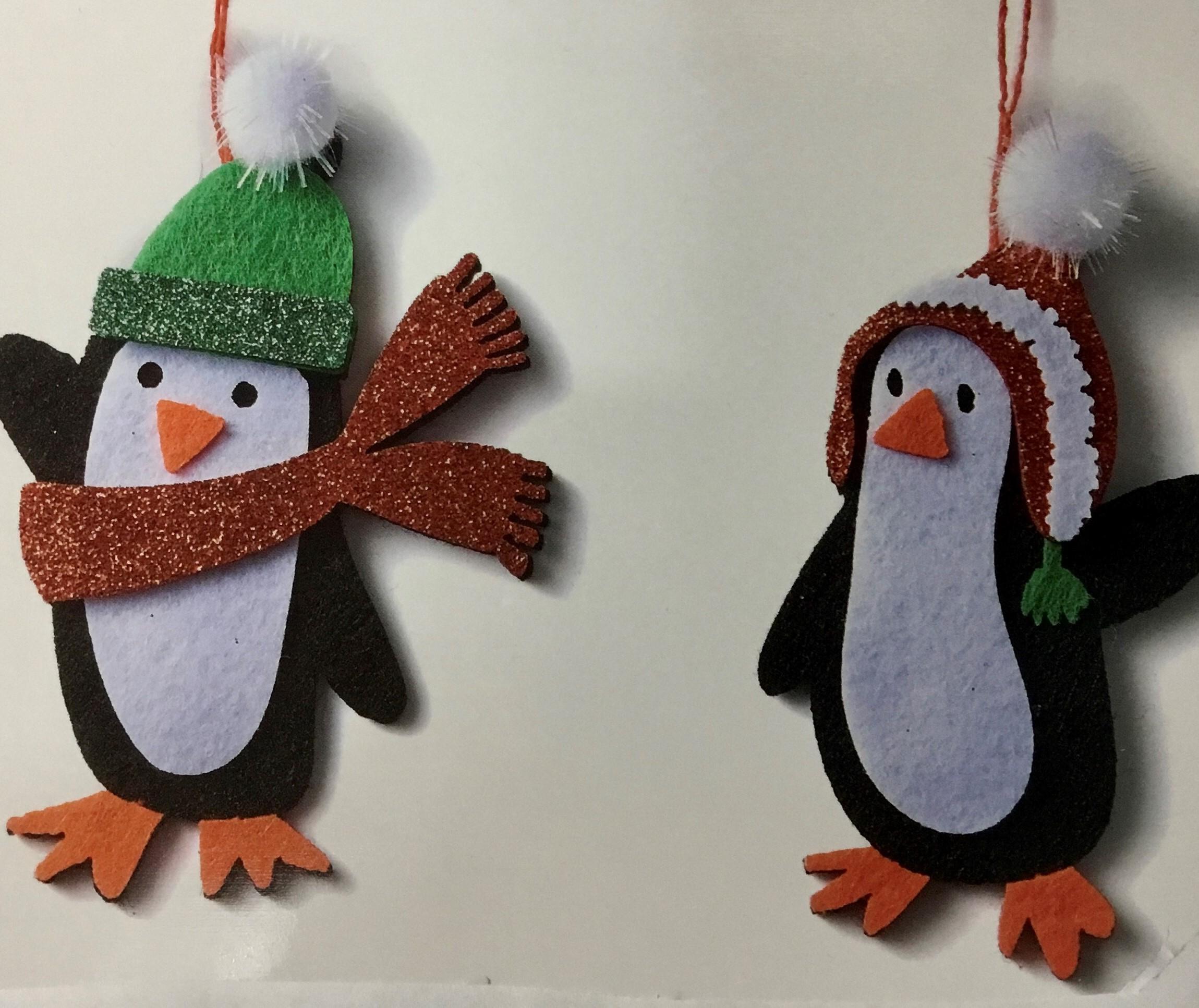 penguin waving